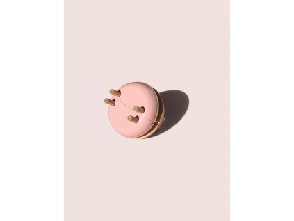 Macaron Pom Maker Rose small wooden pompom maker 1 copy