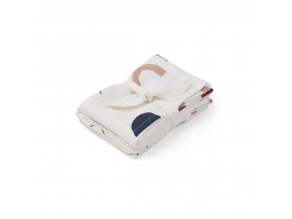 2 pack Muslin cloth swaddle LW12695 0270 Abstract off white
