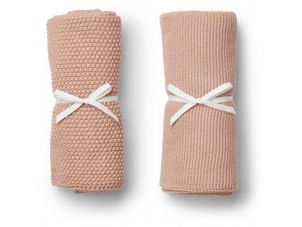 Pletené dečky Tenna 2ks - růžová