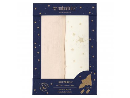 butterfly box swaddles dream pink nobodinoz 1