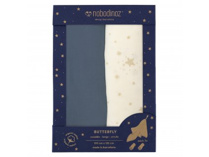 butterfly box swaddles night blue nobodinoz 1