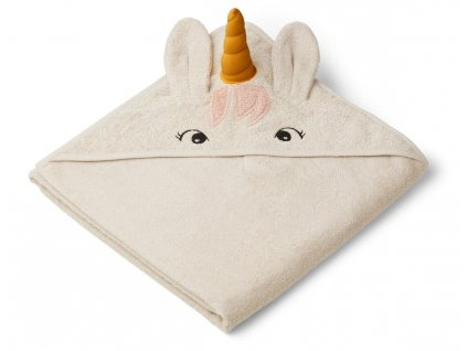 Augusta Hooded Towel Unicorn Sandy