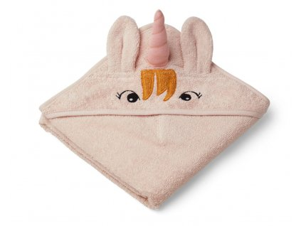Albert Hooded Towel Unicorn Sorbet Rose