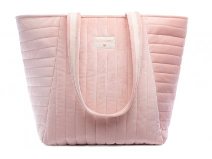 Savanna velvet maternity bag bloom pink