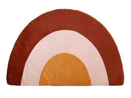 Savanna rainbow velvet carpet nobodinoz brown