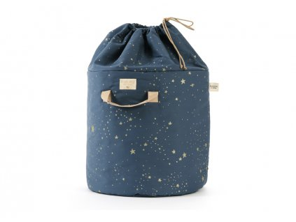 bamboo toy bag sac a jouet guarda juguetes gold stella night blue nobodinoz 1 2000000101057