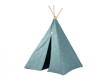Phoenix teepee tipi gold confetti magic green nobodinoz