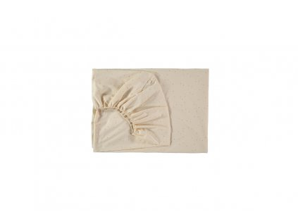 tibet fitted sheet crib sweet dots nobodinoz 2000000109428