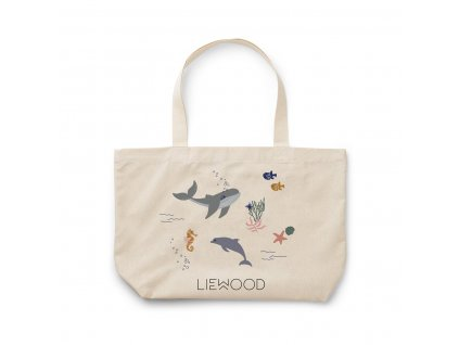 Tote Bag Big Bag LW12632 6910 Sea creature mix
