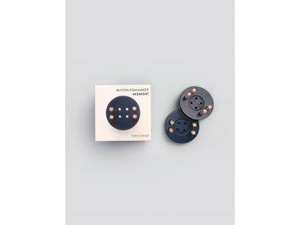 Pom Maker extra small size button pom maker mignight blue