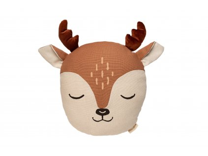 Wild animals deer cushion sienna brown nobodinoz 1 8435574918260