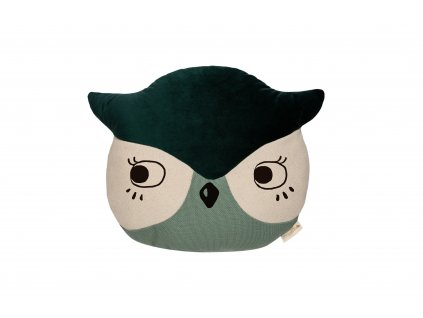 Wild animals owl cushion eden green nobodinoz 1 8435574918277