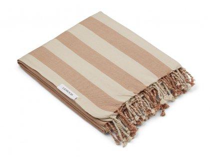 MONA BEACH TOWEL YD STRIPE TUSCANY ROSE SANDY 1.21