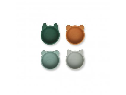Malene 20Silicone 20Bowl 204 20Pack Tableware LW14101 7346 20Green 20multi 20mix