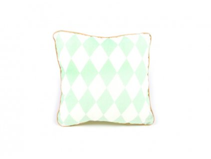cushion joe cojin coussin green diamonds nobodinoz 1