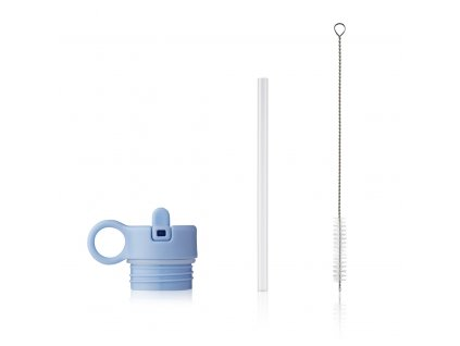 Lid with straw and brush for Anker LW14184 7119 Sky blue Front
