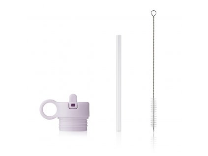 Lid with straw and brush for Anker LW14184 9409 Light lavender Front
