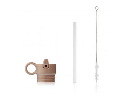 Lid with straw and brush for Anker LW14184 9470 Pale tuscany Front