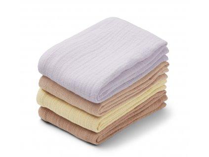 Leon muslin cloth 4 pack LW12851 9410 Light lavender multi mix 2 21 Front