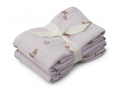 Lewis muslin cloth 2 pack LW13015 6971 Seaside light lavender 2 21 Front