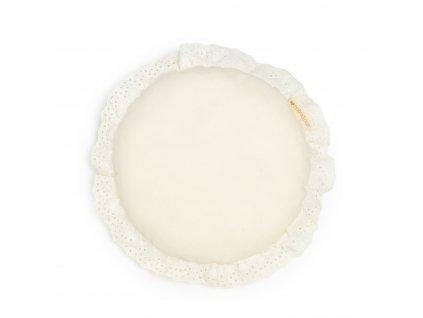 Vera eyelet round cushion natural nobodinoz 1 8435574920362