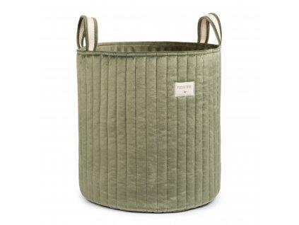 Savanna velvet toy bag olive green nobodinoz 1 8435574920706