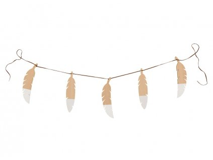 feathers garland white nobodinoz 1
