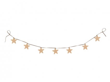 stars garland natural wood nobodinoz 1