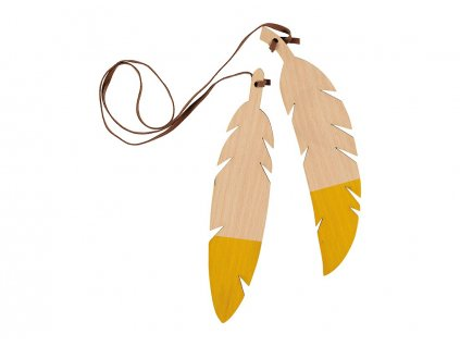 feathers duo yellow nobodinoz 1