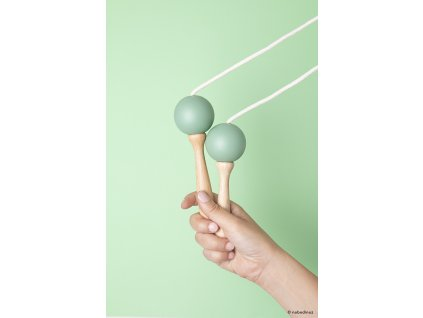 mood nobodinoz jumping rope green wooden toy