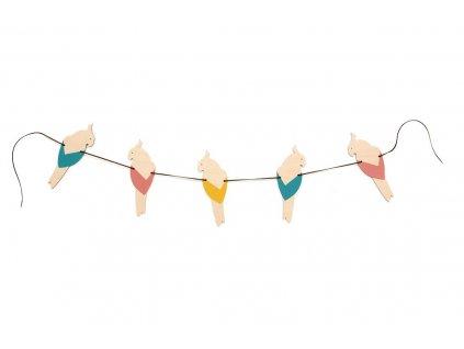 parrot garland multicolor 2