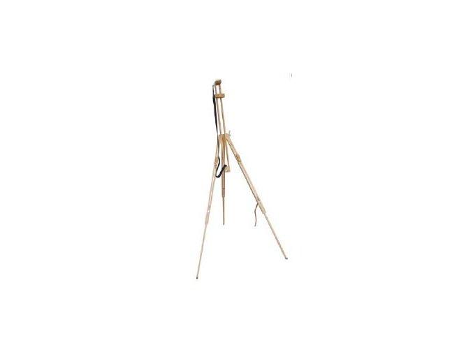 Malířský stojan Typ 3 trojnožka polní - buk s popruhem
