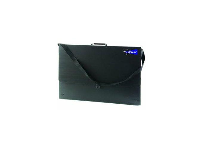 Taška na výkresy z polypropylenu B2 - černá, 73x52x3,5cm