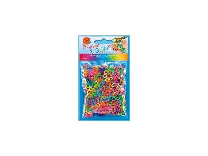 Gumičky Rubber Loops - 500 ks, osmičky - barevný mix