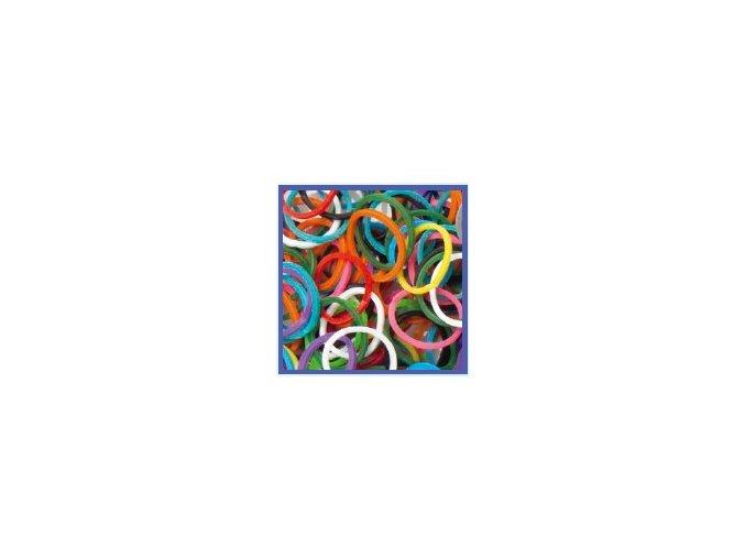 Gumičky Rubber Loops - 100 ks, barevný mix 339109
