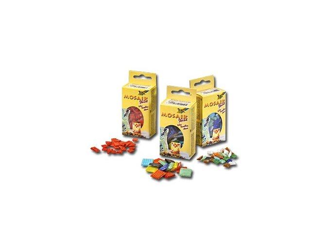 Mozaikové kamínky 10 x 10 mm - žlutá citronová