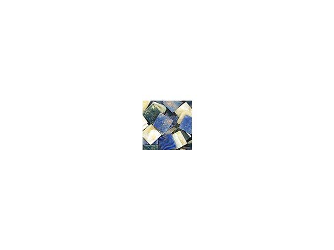 Mozaikové plastové kamínky mramorové 10 x 10 mm  -  modrá