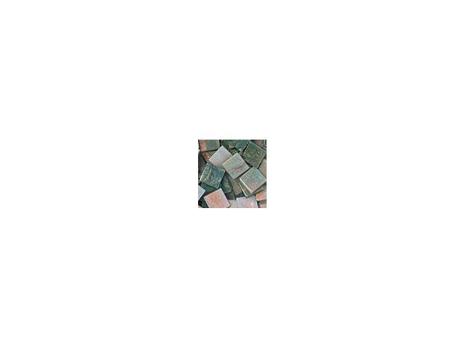 Mozaikové plastové kamínky mramorové 10 x 10 mm  -  zelená