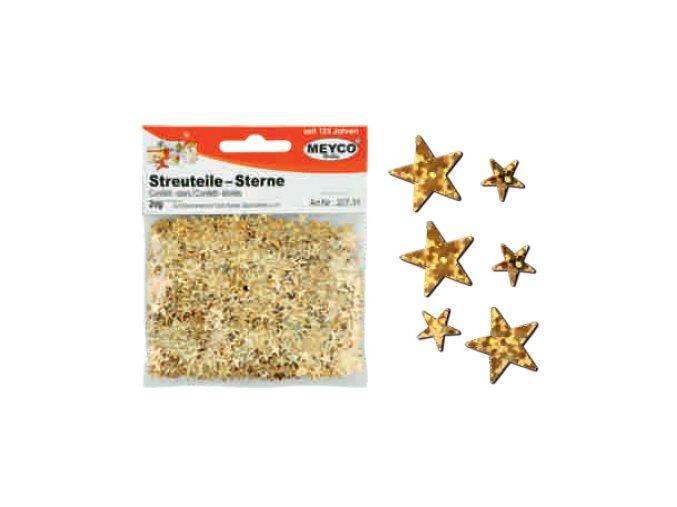 Dekorační hvězdičky zlaté