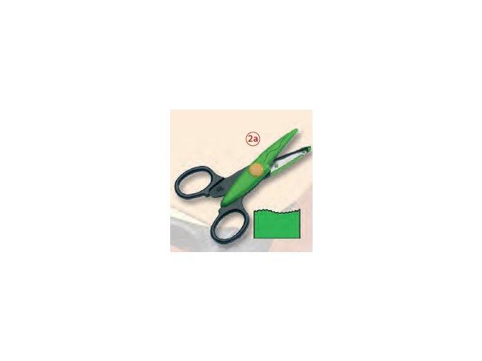 Dekorační nůžky zelené - Velké vlnky