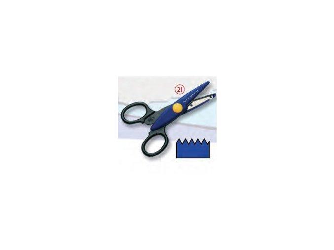 Dekorační nůžky modré tmavé - Zoubky