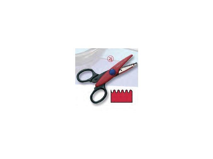 Dekorační nůžky červené - Vlnky