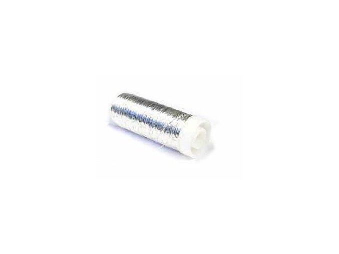 Měděný drát 0,5mm x 30m - Stříbrný