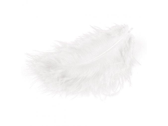 Flaušová peříčka - bílá
