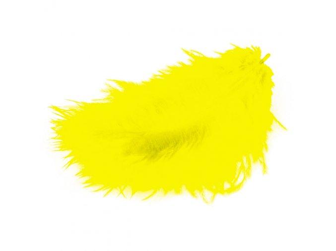 Flaušová peříčka - žlutá