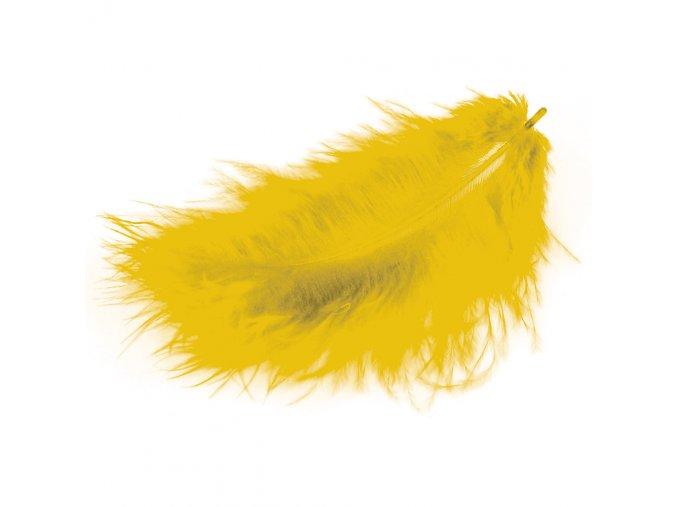 Flaušová peříčka - zlatá žlutá