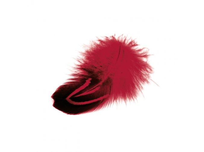 Flaušová peříčka 6/8 cm, 22 ks - červená