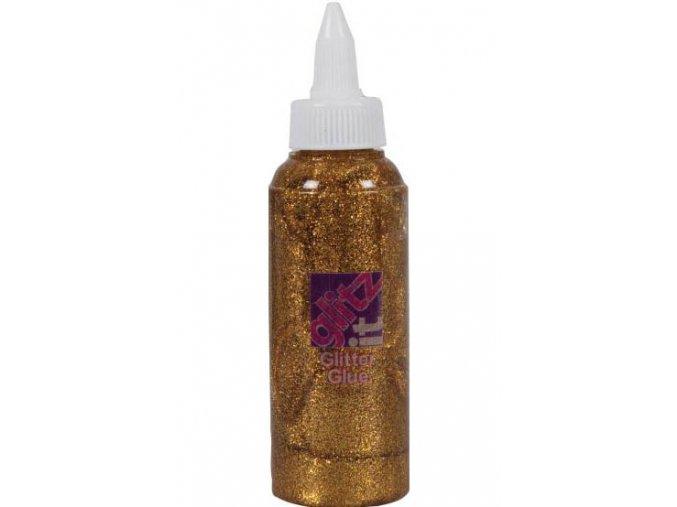 Glittrové lepidlo 120 ml. - 206 zlatá tmavá