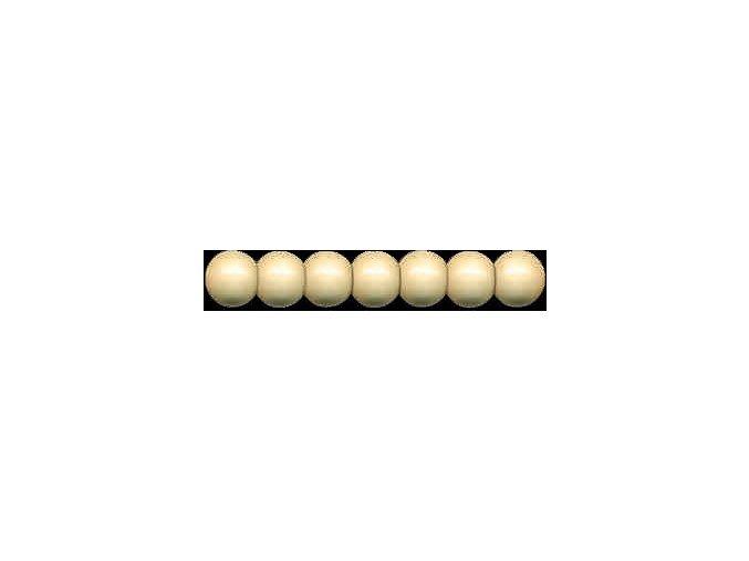 Dřevěné korálky lakované 6mm, 120ks - přírodní