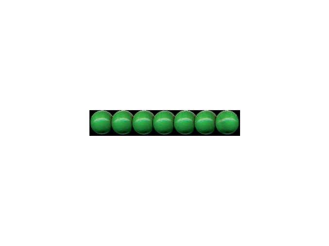 Dřevěné korálky lakované 10mm, 56ks - zelená tmavá